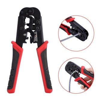 Network Cable Cutting Stripping Crimper Crimping Tool RJ45 RJ12 RJ11 8P/6P/4P Connectors - intl