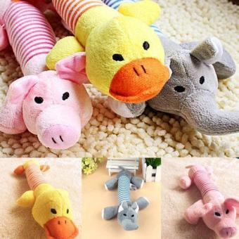 New Dog Pet Puppy Plush Squeaker Squeaky Toys Pig Duck & Elephant toys - intl
