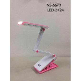 NSS NS-6673 Light Clip-on Clamp Bed Table Study Desk Reading Lamp(Pink)