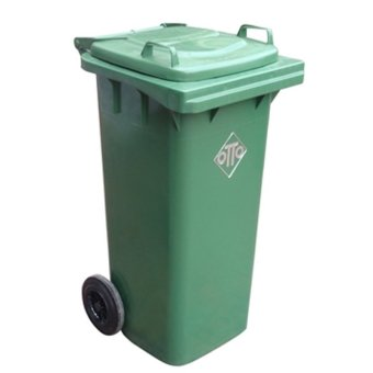 OTTO Trash Bin with Wheels 120 Liters