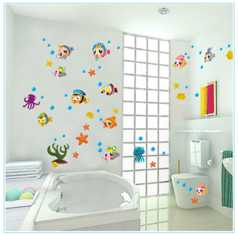 Park cute bedroom room bathroom wall adhesive paper wall stickers