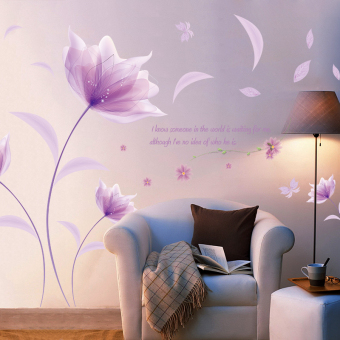 Paul Flowers living room bedroom TV backdrop wall stickers