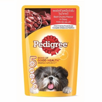 Pedigree Beef Chunks in Sauce Pouch Dog Food 130g Pack of 12