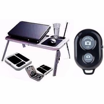 Portable Foldable Laptop E-Table With Cooling Fan with RemoteCamera Control