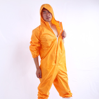 Protective dustproof clean work clothes one-piece raincoat