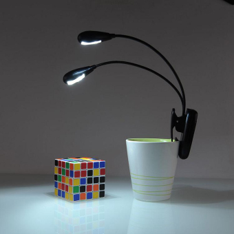 Rechargeable 4-led Flexible Clip on Desk Table Light Lamp (Intl)