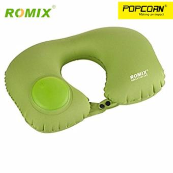 ROMIX RH34 U Shape Automatic Pneumatic Inflatable Portable and Foldable Travel Air Neck Pillow