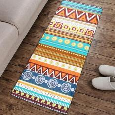 SanwoodR Boho Geometric Print Flannel Long Living Room Bedroom Coffee Table Rug Floor Mat L