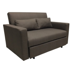 Sigma RC 80166 2 Seater Retractable Sofa Bed (BROWN)