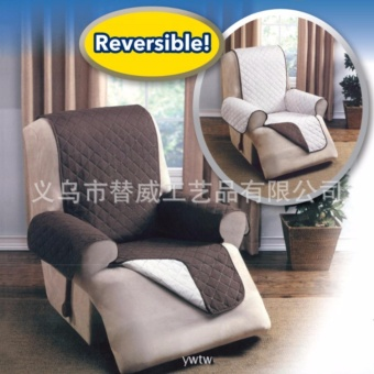 Single Sofa Cover Coat European Classical Positive Negative DualUse Easy to Clean For(Chocolate)