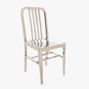 SM Home Minka Stainless Steel Dining Chair