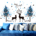 Snow Cartoon blue wall living room sticker wall stickers