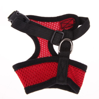 Soft Mesh Dog Harness Pet Puppy Cat Clothing Vest Red M