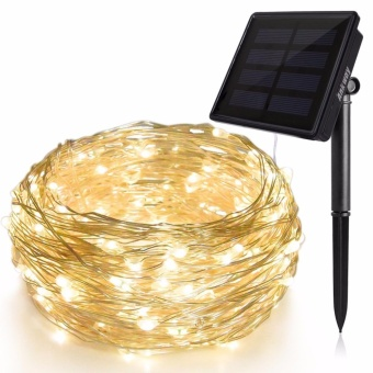 Solar String Lights (72 ft, Waterproof, 8 Modes), Bendable Copper Wire High Efficiency 200 LED Durable Fairy Outdoor String Lights for Garden, Patio, Wedding and Christmas Party (Warm White) - intl