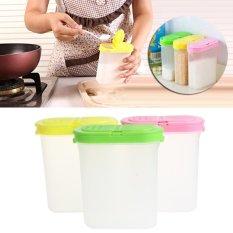 Spice Double Jars Bottle Rack Shaker Plastic For Seasoning Condiment Sugar Salt(Green) -