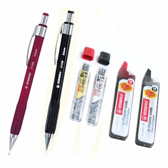 STABILO Mechanical Pencil 0.5mm plus Hi-Polymer Lead 0.5mm 2B-HB