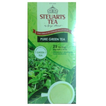 Steuarts Tea PURE GREEN TEA 25 Tea Bags Individually Wrapped
