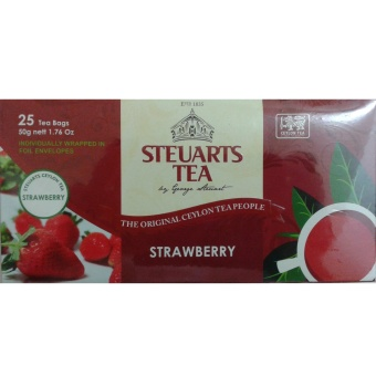 Steuarts Tea STRAWBERRY 25 Tea Bags Individually Wrapped