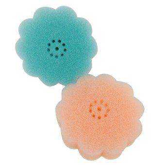 Stick 'N Style Stick-on Kitchen Flower Sponge Set of 2 (Multicolor)