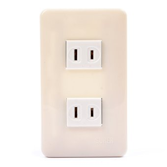 SURER NO.1381 2-Outlet with Plate with FREE Utility Box