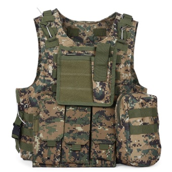 Tactical Military Swat Field Battle Airsoft Molle Combat Assault Plate Carrier Vest - intl