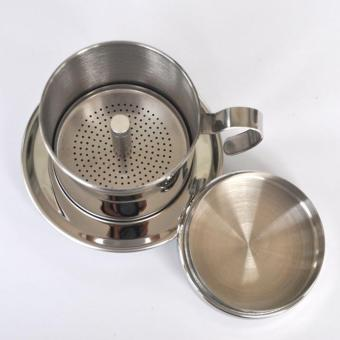 The portable stainless steel Vietnam Coffee Dripper filter coffeemaker high quality drip coffee filter pot filters tools - intl