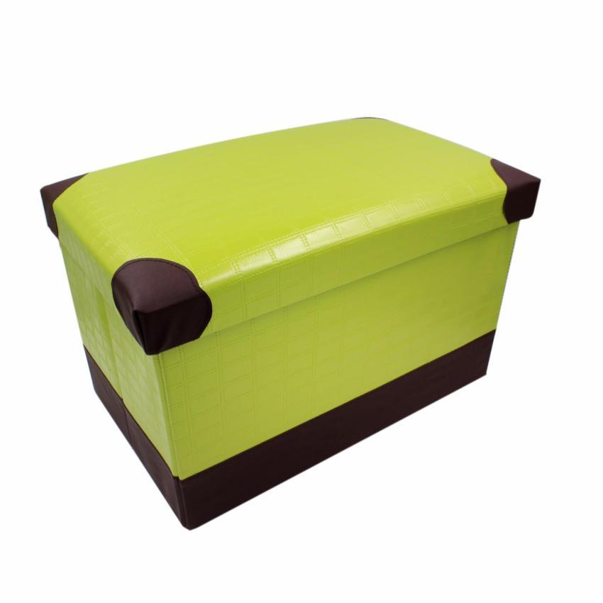 wallmark fabric ottoman storage box chairs orange