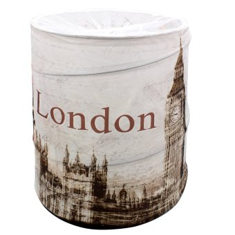 Wallmark London Foldable Pop Up Laundry Hamper Storage Basket