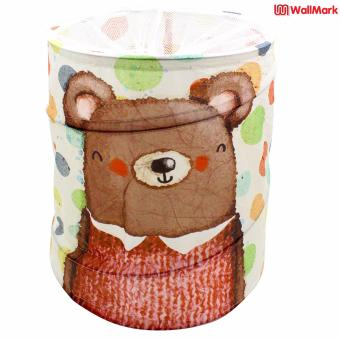 Wallmark Teddy Foldable Pop Up Laundry Hamper Storage Basket