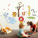 Warm Cartoon children's room nursery bedroom wall adhesive paper Wallpaper