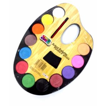 Watercolour Artist Painting Palette with Brush