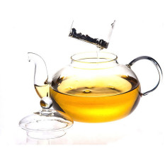 PHP 1.498. XIYOYO Heat Resistant Glass Teapot Infuser Tea Pot Clear ...