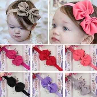 10pcs Cute Baby Headband Fabric Bowknot Flower Headwear Hairband Accessories for Toddler Kids - intl