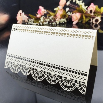 20pcs/set Laser Cut Name Card Wedding Celebration Birthday PartyTable Card Seats Decoration Wedding Birthday Banquet Favor (White)- intl