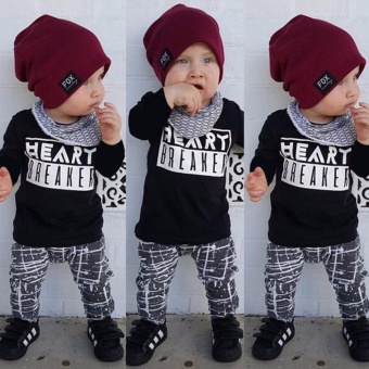 2PCS Toddler Baby Boy Kids Clothes Set Tops Tshirt+Pants OufitsTracksuit 0-3Y (2-3 Years) - intl