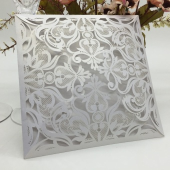 40pcs/set European Carved Pattern Wedding Invitation Card Hollow Out Crafts Cards for Wedding Party Birthday Banquet (White) - intl
