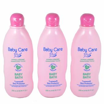 Baby Care Plus Baby Bath Pink with Lamesoft Skin Protector Set of 3200 mL
