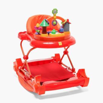 Baby Company 2-in-1 Walker Rocker (Red Orange)
