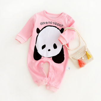 Baby one-piece newborns cotton long-sleeved romper
