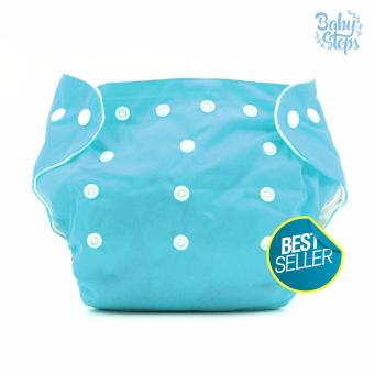 BABY STEPS Cloth Baby Diapers (Blue)
