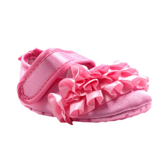 BABY STEPS Flossy Ruffles Baby Girl Shoes (Pink)