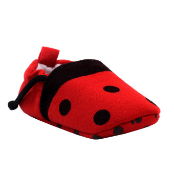 BABY STEPS Lady Bee Baby Girl Cotton Shoes (Red)