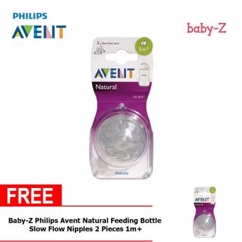 Baby-Z Philips Avent Natural Feeding Bottle Slow Flow Nipples 2 Pieces 1m+ Buy One Take One