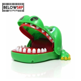 Below SRP Crocodile Mouth Dentist Bite Finger Game Toy Party Game (Small )