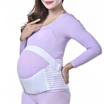 Breathable Maternity Abdomen Waist Belt Pregnant Pregnancy BellyBack Support Brace Band(M) - intl