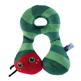 Cartoon Newborn Baby Pillow Neck Support Cushion Travel Car SeatStroller Headrest(Worm) - intl