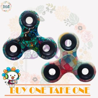 D&D New Printed Fidget Spinner Greatnes Triangle Single FingerDecompression Gyro (Buy One Take One)