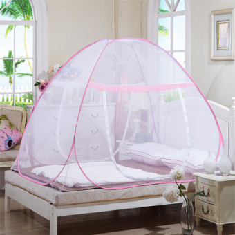 Easy to Setup Mosquito Net Canopy for Bed 180cm (Pink)