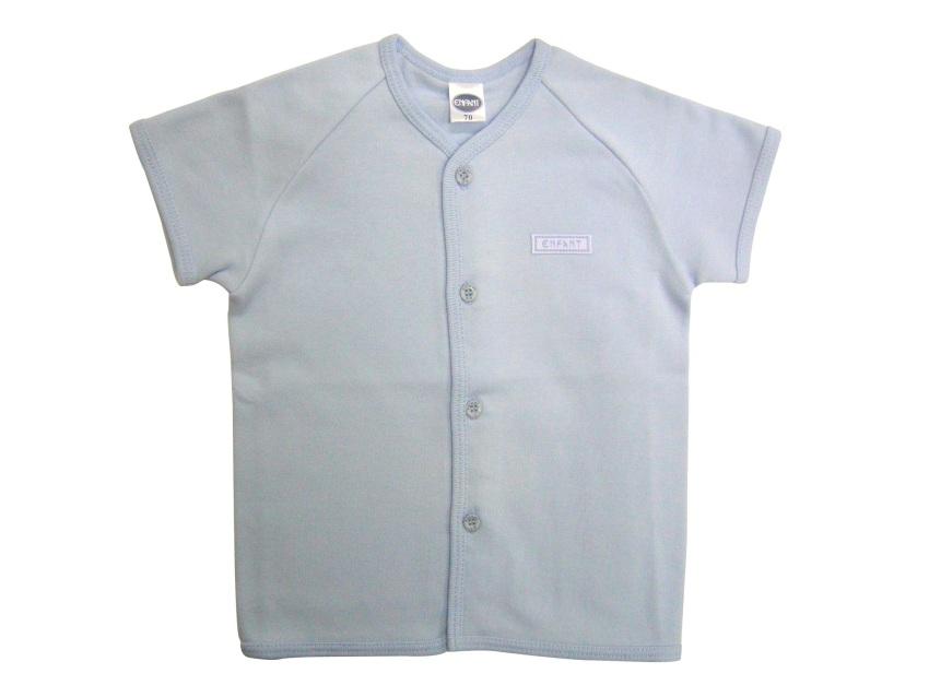 Enfant Shirt Tie Side Short Sleeves Blue Lazada Ph