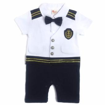 Formal Sailor Romper (White/Navy) for 9 to 12 Months Old